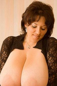 cute babe Bianca Bloom sliding her big boobs around