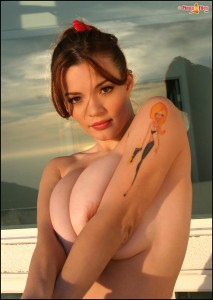 Danielle Riley big Boobs burst out of tight sexy bikini