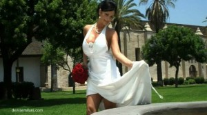 Denise Milani Runaway Bride video shows off her amazing Boobs