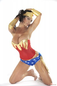 giant boobs denise milani wonder woman pictures