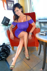 Big boobed Denise Milani new set Purple Gallery