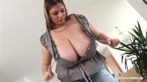 Big boobed hottie Nadine Jansen super hot video shot