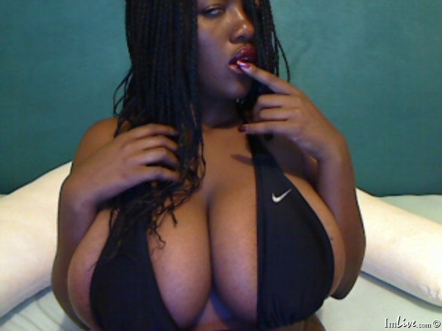 Big black webcam tits