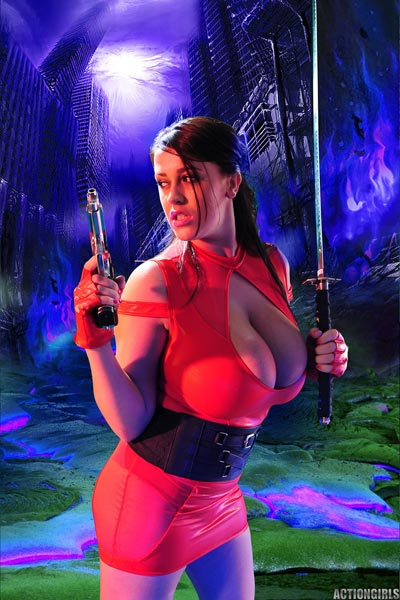 "The new update ""Red Ninja"" of Leanne Crow for Actiongirls"