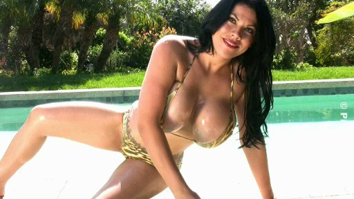"New video ""Hot Tub Bikini"" of nasty big boob Ana Rica"