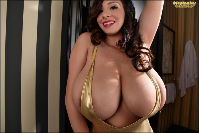 Oiled Huge Natural Tits Solo