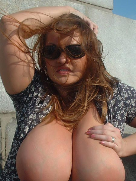 Several pics of all natural big breasted Milf 34J Maria Moore