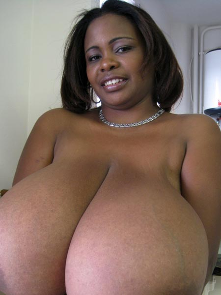 Big huge ebony boobs