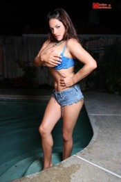 topless busty model Monica Mendez