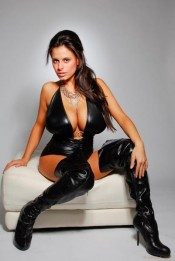leather dress Wendy Fiore