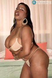 ebony busty babe