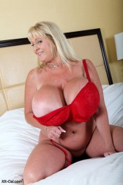 big boobed milf legend in red bra