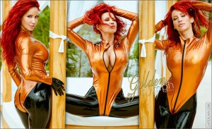 sexy bianca in latex