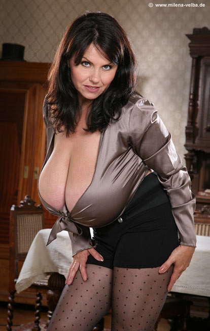 Milena Velba is a beautiful woman with a fabulous breasts