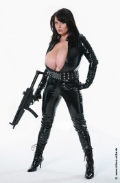 latex milf with guns