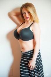 emily born striped skirt