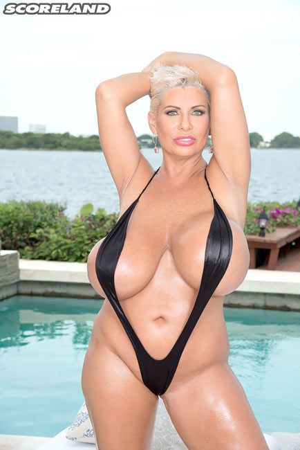 MILF legend Claudia Marie in Swimsuit Stretcher
