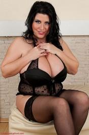 natalie fiore black lingerie