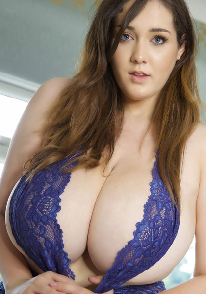 Bella Brewer with first gallery Royal Blue for PinupFiles