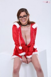 busty santa babe