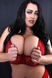 leanne crow red sheer bra set