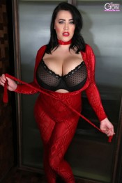 leanne crow red flare set
