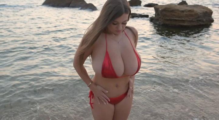 Demmy Blaze's Red Bikini