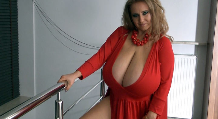 Abbi Secraa is incredible in this sexy red dress!