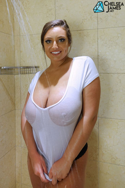 wet t shirt shower