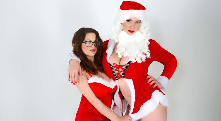 Christmas Couple Lana Kendrick and Tessa Fowler