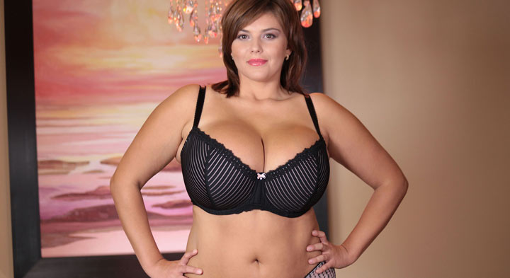 Xenia Wood in Huge Bra and Stockings Turn On