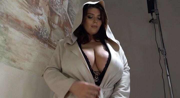 Xenia Wood in Boobie in Hoodie