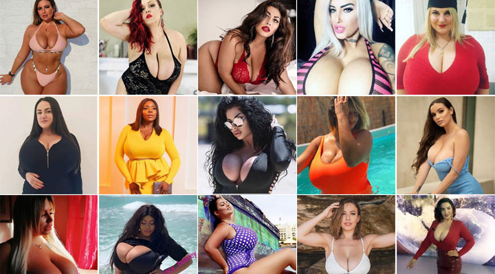New huge boob models on our Instagram TOP200