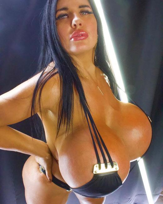 Silicone very boobs big Granny